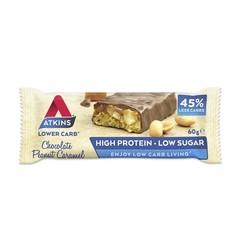 Atkins Chocolate peanut caramel reep (60 gram)