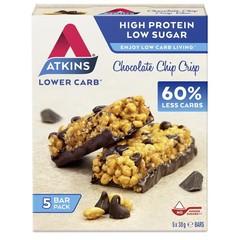 Atkins Chocolate chip crisp reep 30 gram (5 stuks)