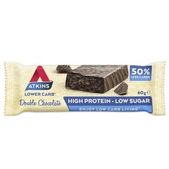Atkins Double chocolate reep (60 gram)