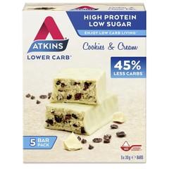 Atkins Cookies & cream reep 30 gram (5 stuks)