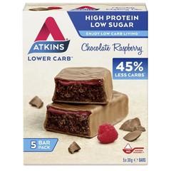 Atkins Chocolate raspberry reep 30 gram (5 stuks)