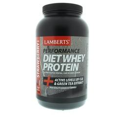 Lamberts Dieet shake whey proteine aardbei (1 kilogram)
