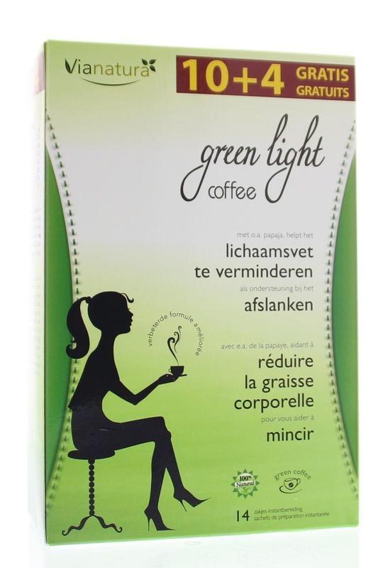 Green Light Green light afslank coffee (14 zakjes)