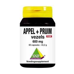 SNP Appel pruim vezels 600 mg puur (60 Capsules)