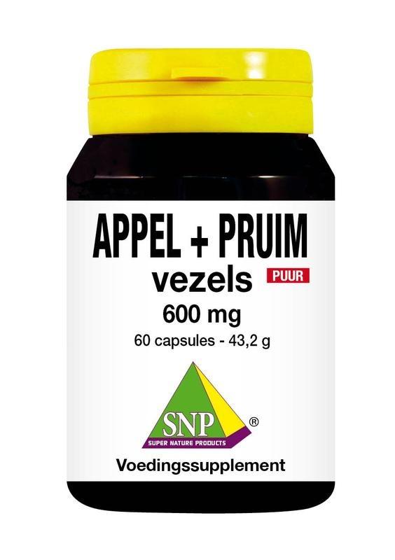 SNP SNP Appel pruim vezels 600 mg puur (60 Capsules)
