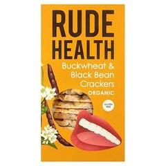 Rude Health Boekweit zwarte bonen crackers (120 gram)