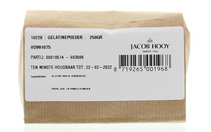 Jacob Hooy Jacob Hooy Gelatinepoeder (250 gram)