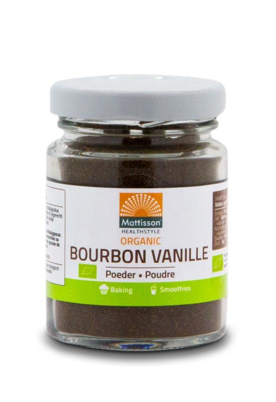Mattisson Mattisson Bourbon vanille poeder bio (30 gram)