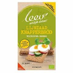 Leev Bio Knapperbrod volkoren & lijnzaad (150 gram)