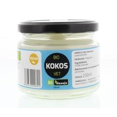 Hanoju Kokosolie geurloos bio glasflacon (250 ml)