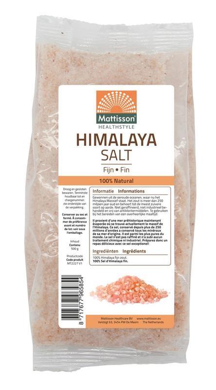 Mattisson Mattisson Himalaya zout fijn navulzak (500 gram)