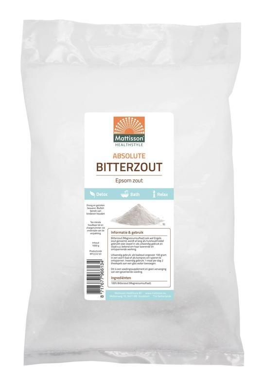 Mattisson Mattisson Bitterzout epsom zout magnesiumsulfaat (1 kilogram)