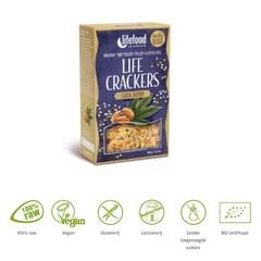 Lifefood Life crackers chia hennep (90 gram)