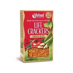Lifefood Life crackers tomaat kruiden (90 gram)