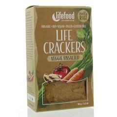 Lifefood Life crackers groente ongezouten (90 gram)