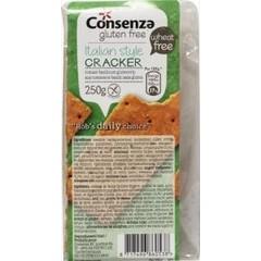 Consenza Crackers tomaat basilicum (200 gram)