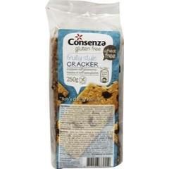 Consenza Crackers rozijnen (250 gram)