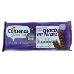 Consenza Choco teff fingers (100 gram)