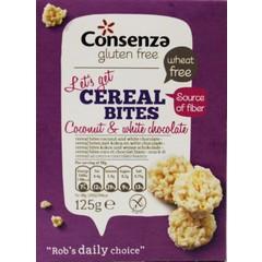 Consenza Kokos witte chocolade cerial bites (125 gram)