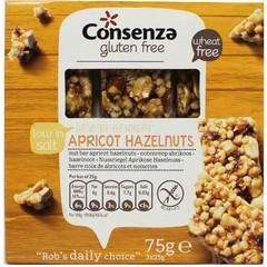 Consenza Abrikozen hazelnoot repen (75 gram)