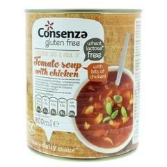 Consenza Tomatensoep met stukjes kip (800 ml)