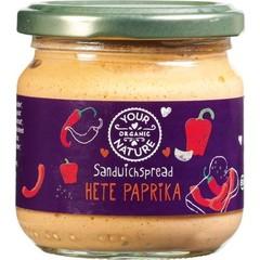 Your Organic Nat Sandwichspread hete paprika (180 gram)