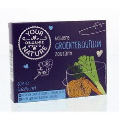 Your Organic Nat Heldere groentebouillon zoutarm (60 gram)