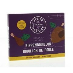 Your Organic Nat Kippenbouillonblokjes zonder gist (66 gram)