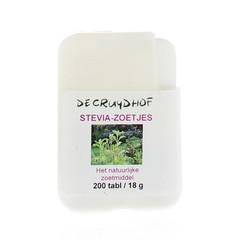 Cruydhof Stevia extract zoetjes dispenser (200 tabletten)