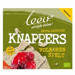 Leev Bio spelt knappers volkoren (150 gram)