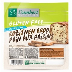 Damhert Rozijnenbrood glutenvrij (200 gram)