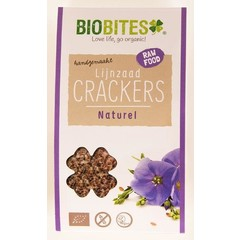 Biobites Raw food lijnzaad cracker naturel (30 gram)