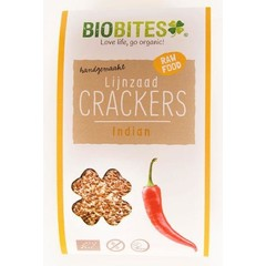 Biobites Raw food lijnzaad cracker Indian (30 gram)