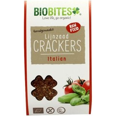 Biobites Raw food lijnzaad cracker Italian (30 gram)