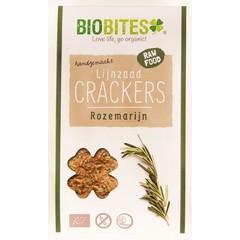 Biobites Raw food lijnzaad cracker rozemarijn (30 gram)