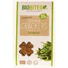Biobites Raw food lijnzaad cracker zeewier (30 gram)