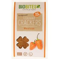 Biobites Raw food lijnzaad cracker Mexican (30 gram)