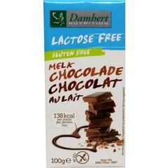 Damhert Chocoladetablet melk lactosevrij (100 gram)