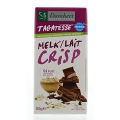 Damhert Chocoladetablet melk/crisp (85 gram)