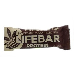 Lifefood Lifebar plus choco green protein bio (47 gram)