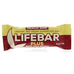 Lifefood Lifebar plus berry maca baobab bio (47 gram)