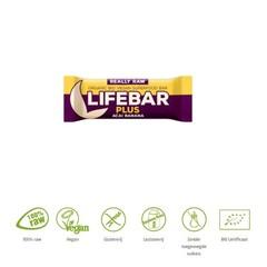 Lifefood Lifebar plus acai banana bio (47 gram)
