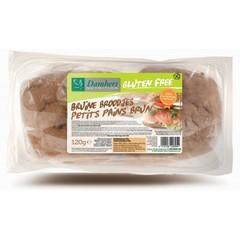Damhert Bruine broodjes gluten vrij (120 gram)