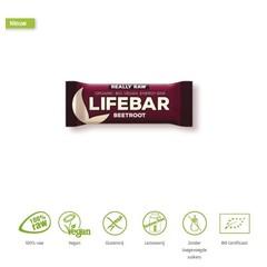 Lifefood Lifebar energiereep rode biet raw & bio (47 gram)