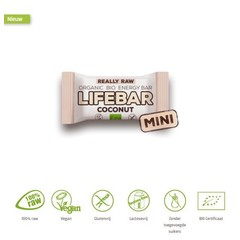 Lifefood Mini lifebar energiereep kokos raw & bio (25 gram)