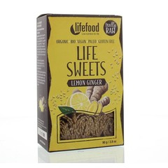 Lifefood Life sweets gember citroen raw & bio (80 gram)