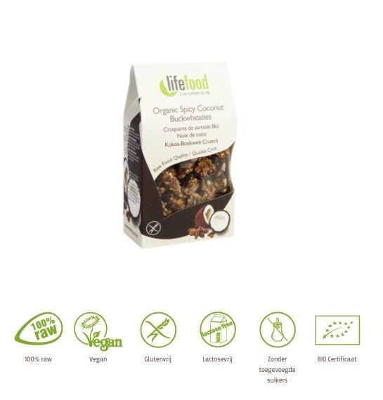 Lifefood Lifefood Life sweets kokos boekweit raw & bio (100 gram)