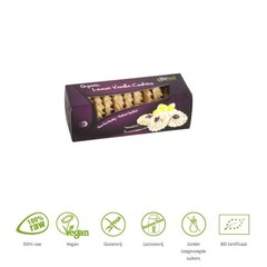 Lifefood Citroen vanille koekjes raw bio (80 gram)