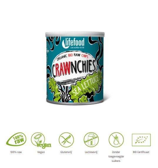 Lifefood Lifefood Stapelchips zeesla raw & bio (20 gram)