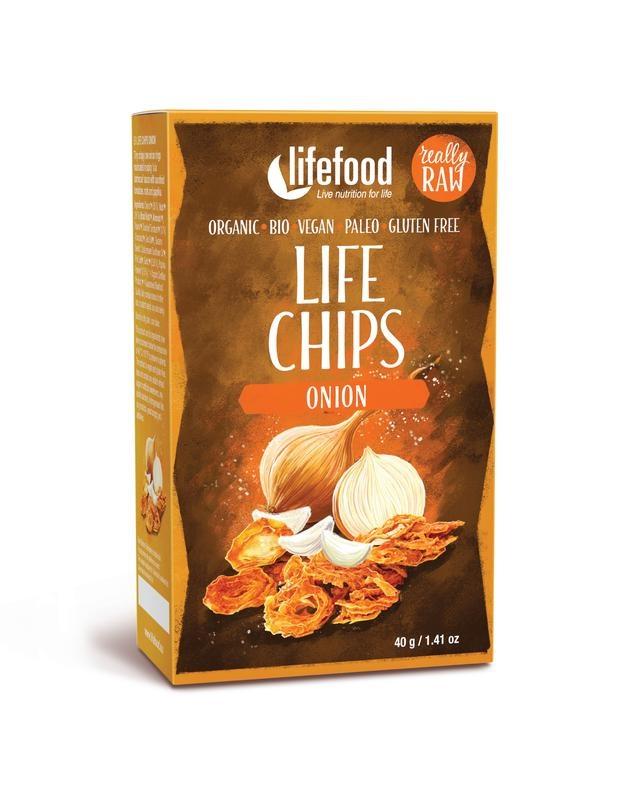 Lifefood Lifefood Groentechips uien raw & bio (40 gram)